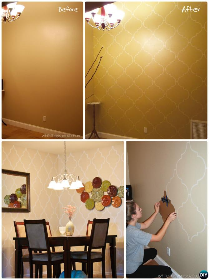Easy wall paint ideas diy wall painting ideas simple wall for Easy wall painting techniques
