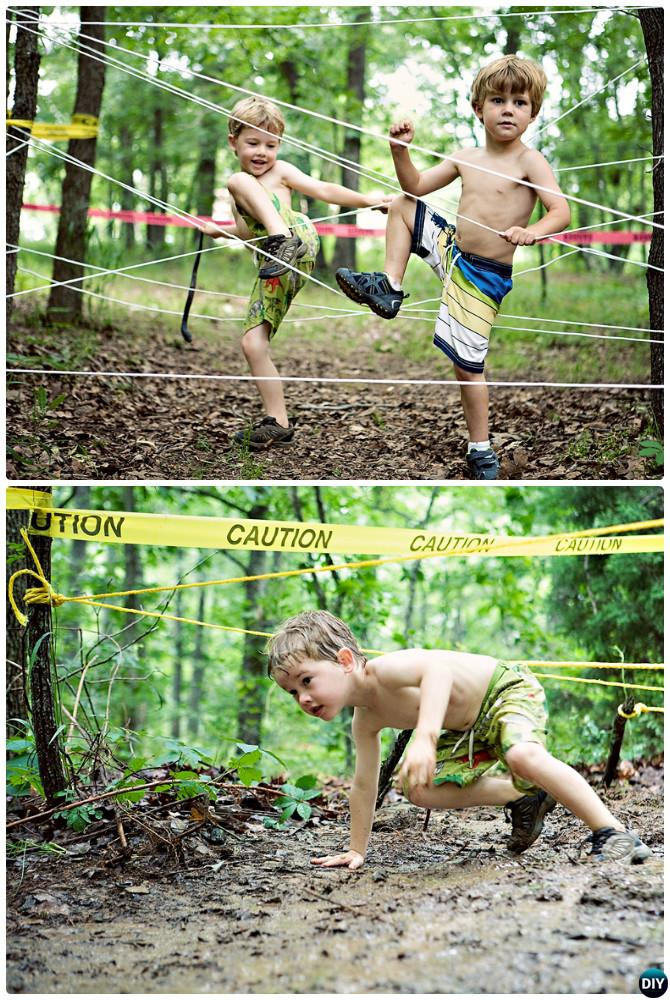 DIY Mud Run -20 DIY Summer Outdoor Games For Kids Adults