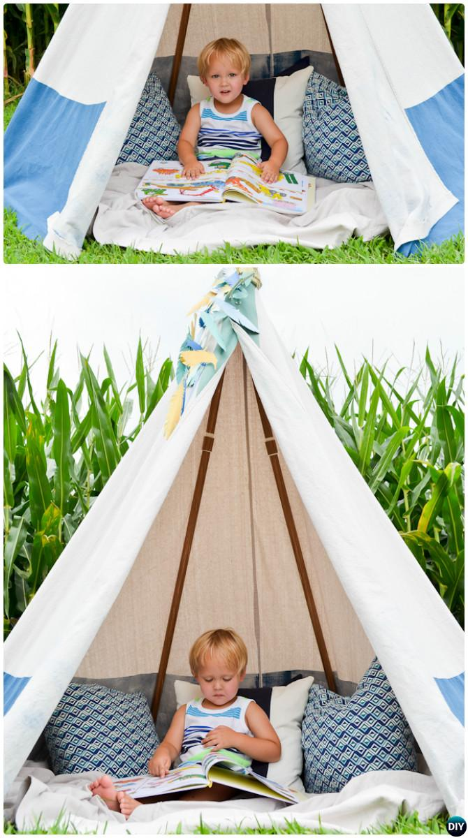 DIY No Sew PVC Pipe Teepee-20 PVC Pipe DIY Projects For Kids