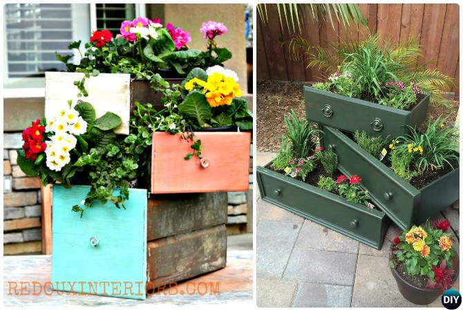 Best Recycle Old Drawers Garden Planter Diy Ideas Projects