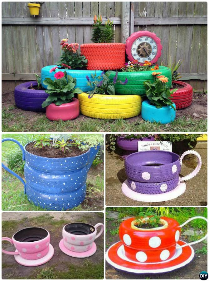 20 diy upcycled container gardening planters projects for Things used for gardening