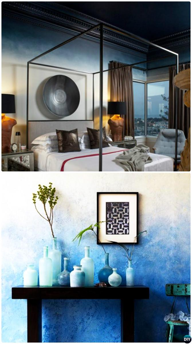 DIY Patterned Wall Painting Ideas And Techniques Picture - Ombre wall painting technique