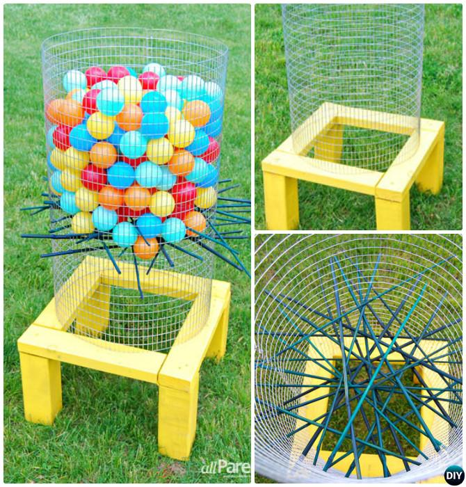 DIY Outdoor Ker-Plunk Game-20 DIY Summer Outdoor Games For Kids Adults