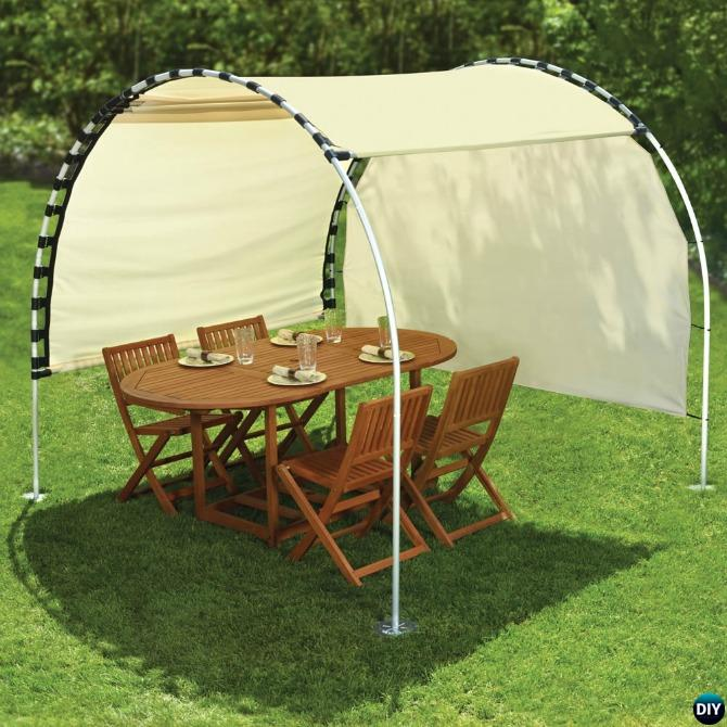 Diy Pvc Shelters : Diy outdoor suntracking pvc canopy shelter diyhowto