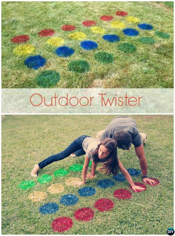 DIY Outdoor Twister-20 DIY Summer Outdoor Games For Kids Adults
