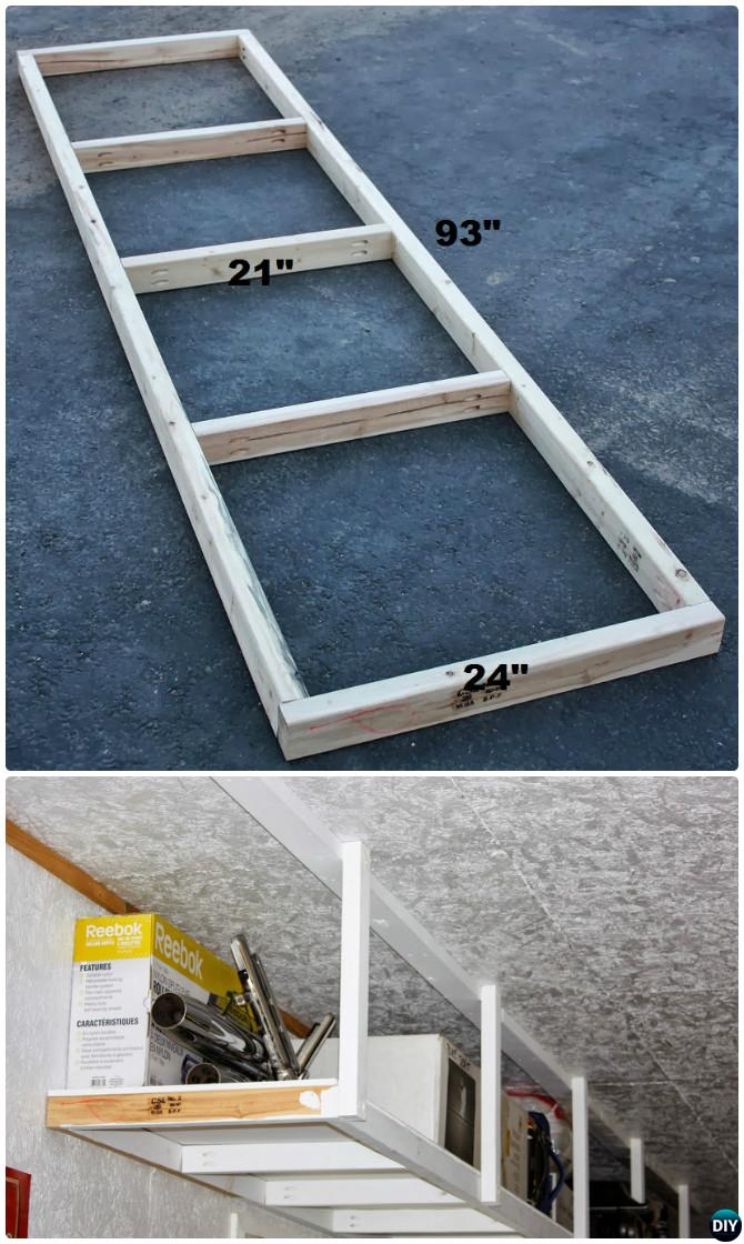 DIY Overhead Garage Shelf-Garage Organization and Storage DIY Ideas Projects