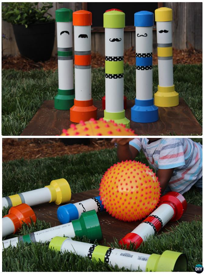 DIY PVC Bowling Pins -20 PVC Pipe DIY Projects For Kids