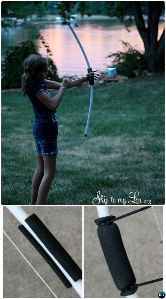 DIY PVC Pipe Bow Arrow-20 PVC Pipe DIY Projects For Kids