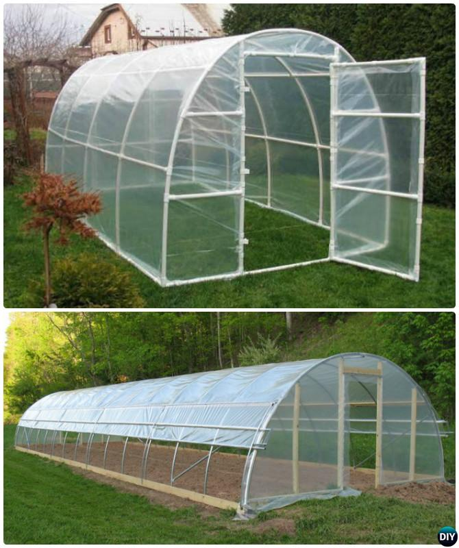 DIY PVC Pipe Greenhouse-18 DIY Green House Projects Instructions