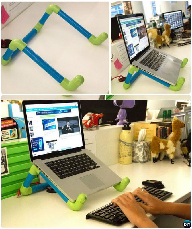 DIY PVC Pipe Laptop Stand-20 PVC Pipe DIY Projects For Kids