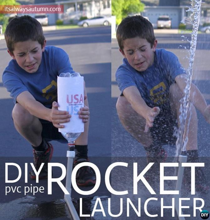 DIY PVC Pipe Rocket Launcher-20 PVC Pipe DIY Projects For Kids