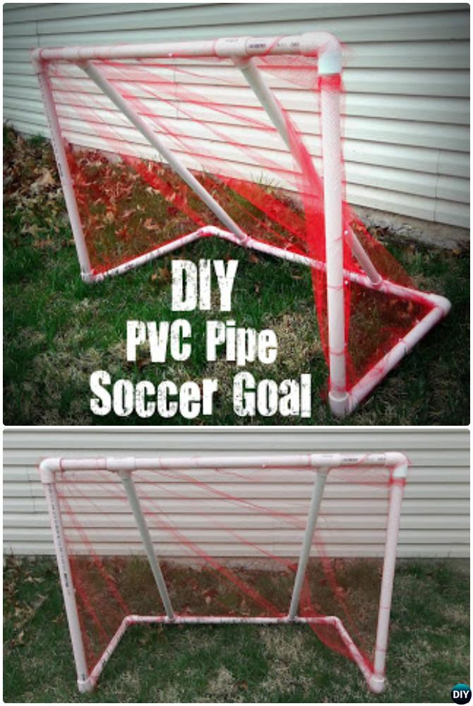DIY PVC Pipe Soccer Goal -20 PVC Pipe DIY Projects For Kids