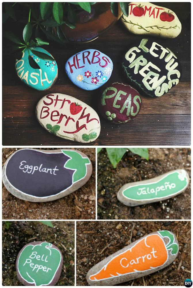 Diy garden art decorating ideas instructions for Outdoor decorating with rocks