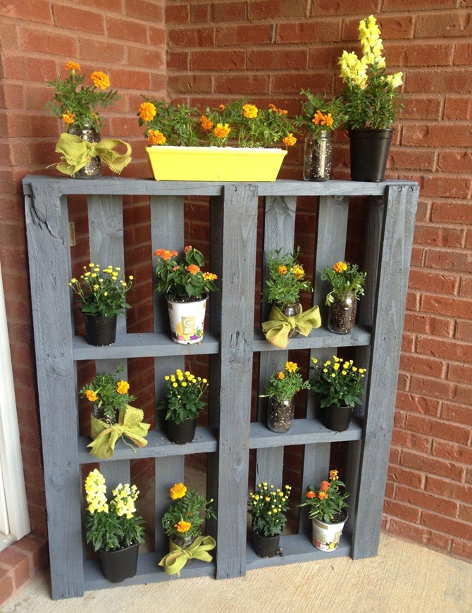 DIY Pallet Planter Shelf-20 DIY Porch Decorating Ideas Projects