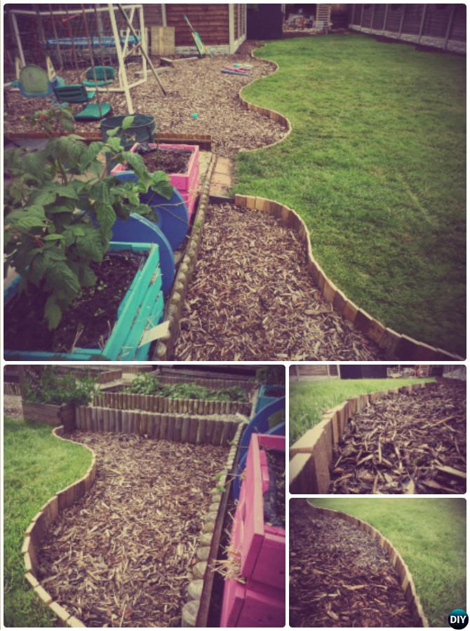 Diy Pallet Wood Garden Edging 20 Creative Garden Bed Edging Ideas