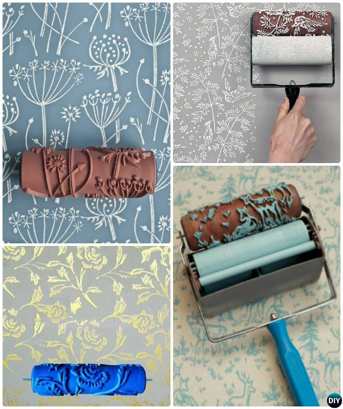 Diy Patterned Roller Wall Painting Instruction Diy Wall Painting