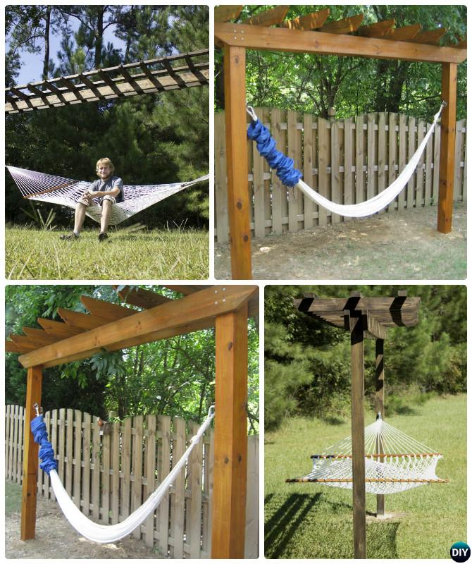 DIY Pergola Hammock Stand-10 DIY Hammock Projects Instructions
