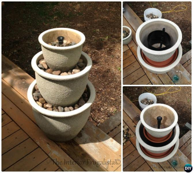 DIY Planter Pot Water Fountain Instructions