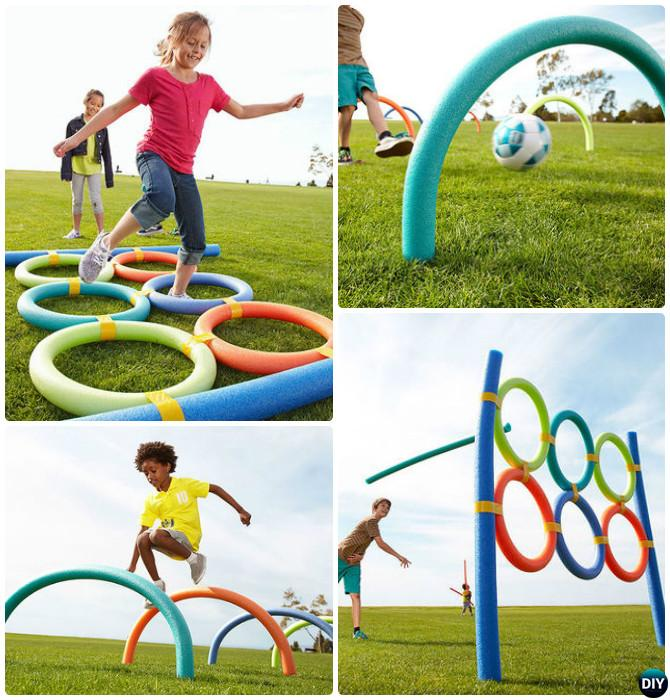 DIY Pool Noodle Game-20 DIY Summer Outdoor Games For Kids Adults