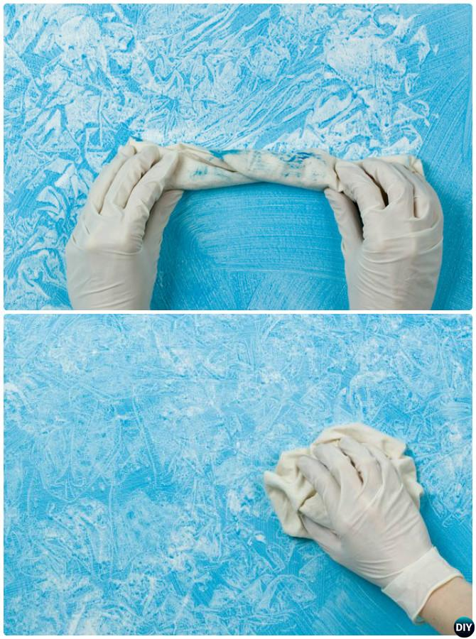 DIY Rag Rolling Wall Painting Instruction -DIY Wall Painting Ideas Techniques Tutorials