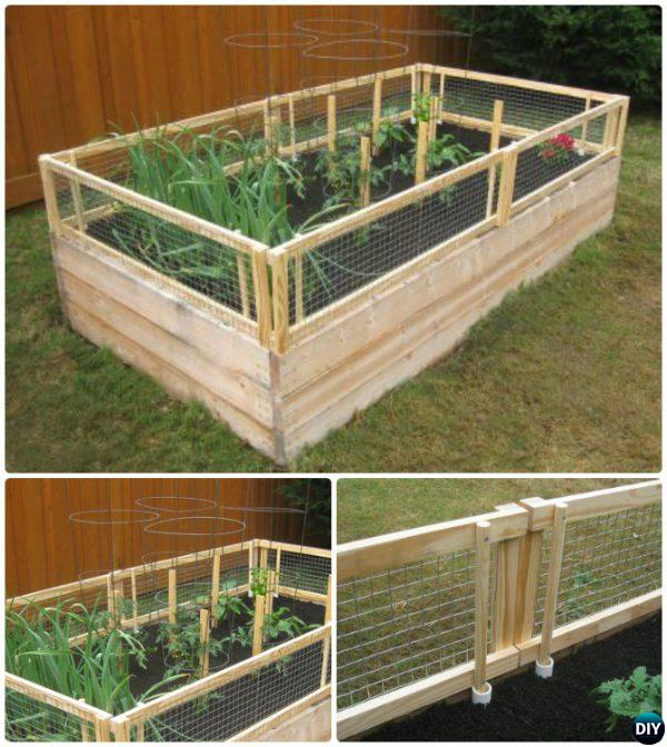 20 Raised Bed Garden Designs And Beautiful Backyard: DIY Raised Garden Bed With Gate-20 DIY Raised Garden Bed
