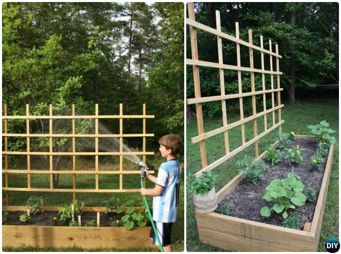 DIY Raised Garden Bed With Trellis Instruction-20 DIY Raised Garden Bed Ideas Instructions