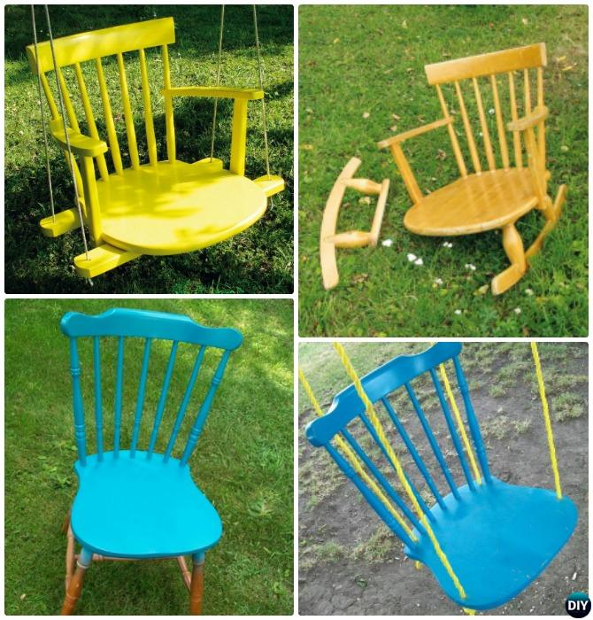 DIY Recycled Kids Chair Swing Instructions