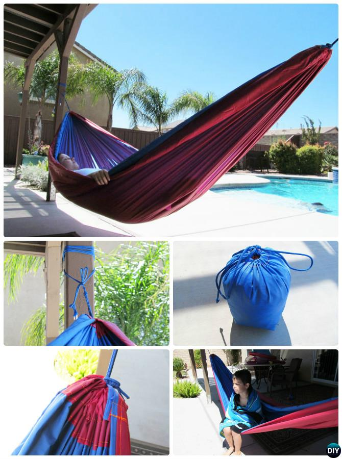 DIY Rip Stop Nylon Hammock-10 DIY Hammock Projects Instructions