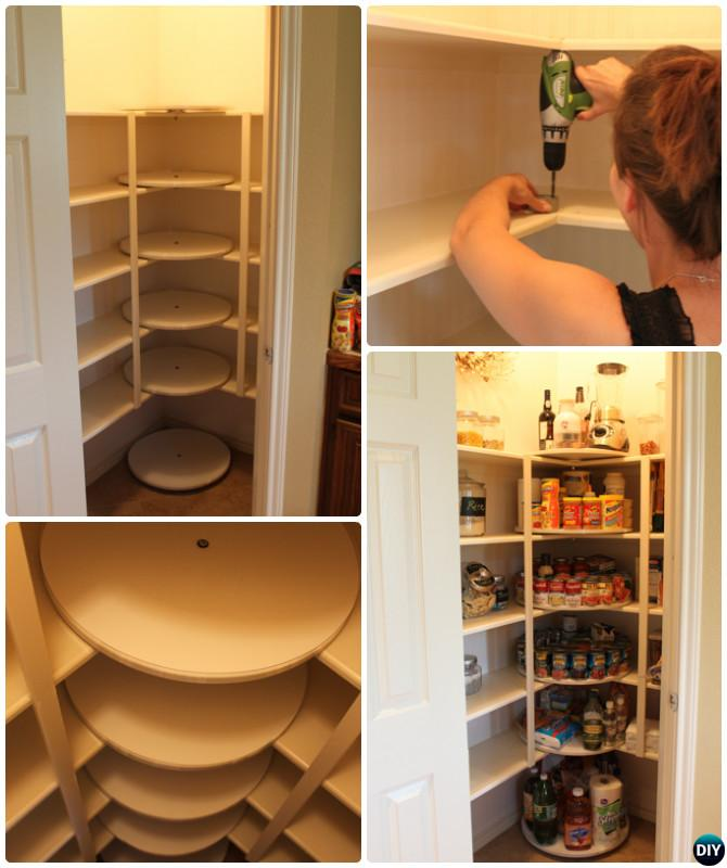 DIY Rotating Lazy Susan Pantry Storage Cabinet Free Plan Instruction