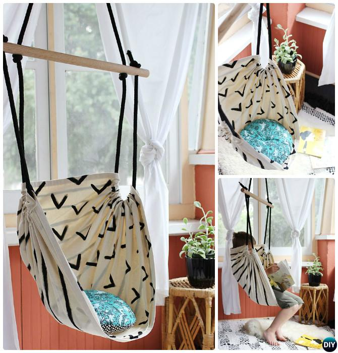 DIY Sew Hammock Chair-10 DIY Hammock Projects Instructions