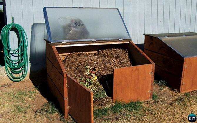 DIY Shower Door Compost Bin Instruction-12 Simple DIY Compost Bin Projects