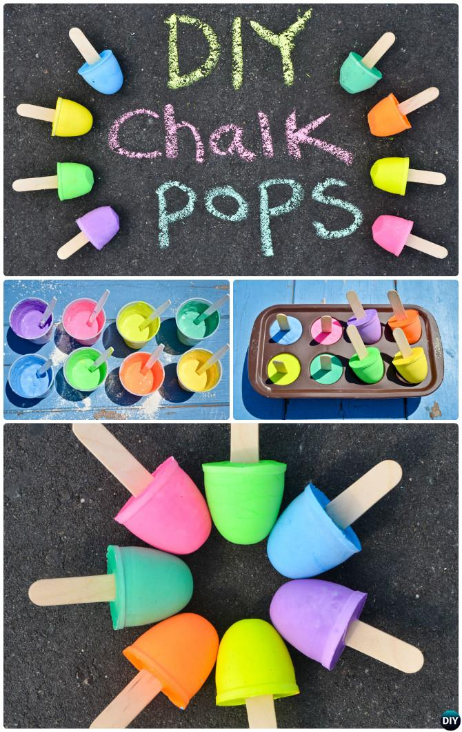 DIY Sidewalk Chalk Pop Instruction-Homemade Chalk DIY Ideas Recipe