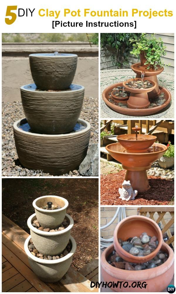 Running water brings life, and these easy and inexpensive DIY Terracotta Clay Pot fountain projects will be onto your must to do garden design list.
