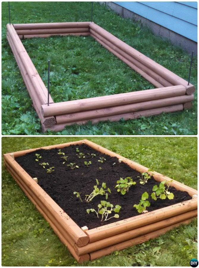 DIY Timber Raised Garden Bed