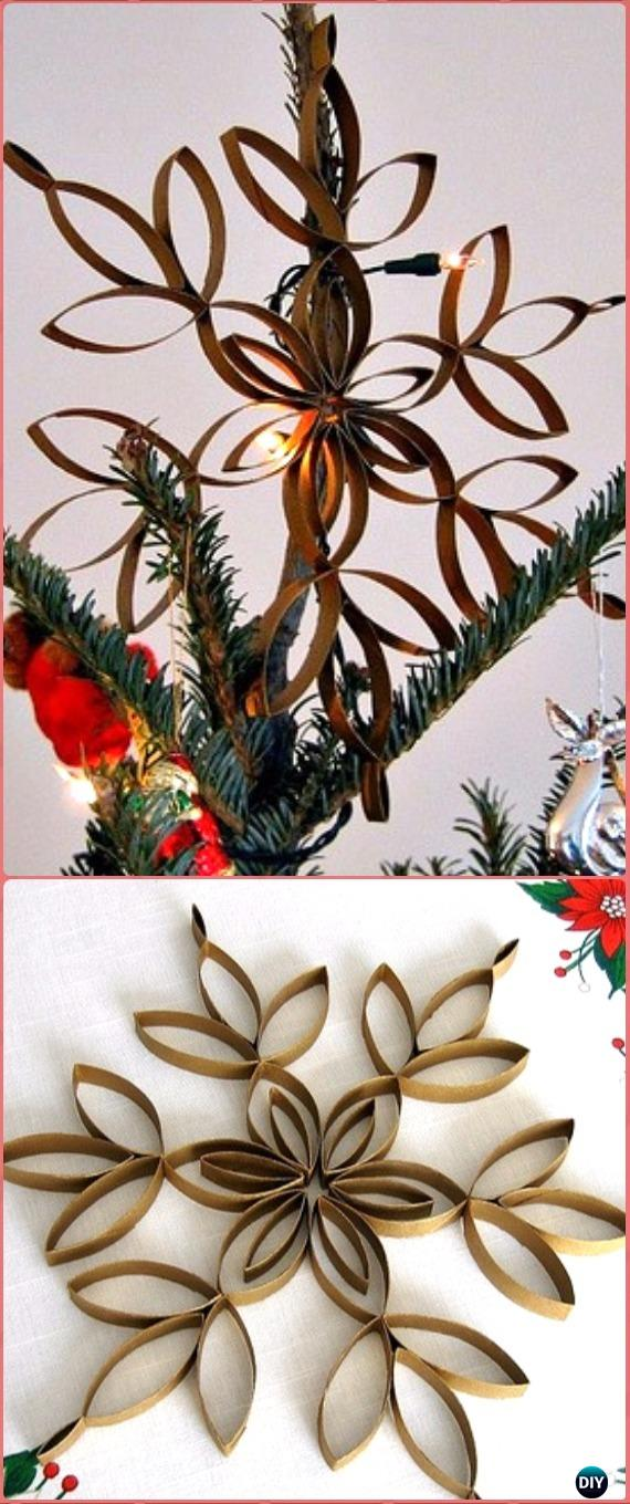DIY TP Roll Tree Topper Tutorial - Paper Roll Christmas Craft Ideas & Projects