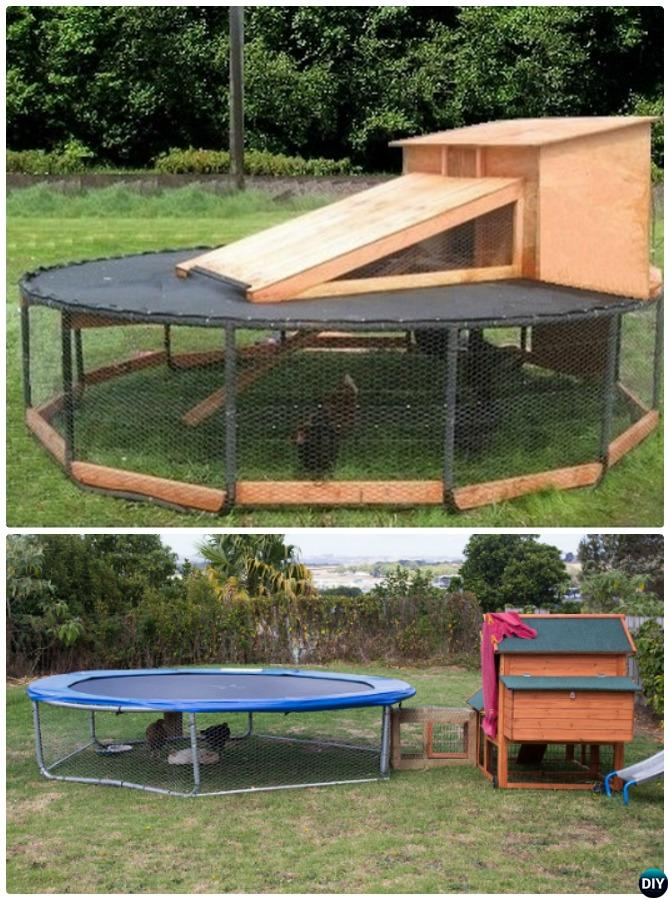 DIY Trampoline Chicken Coop-8 Top Trampoline Hacks