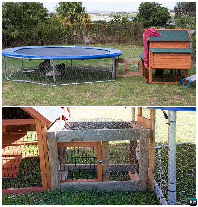 Diy Trampoline Chicken Coop Picture Instructions