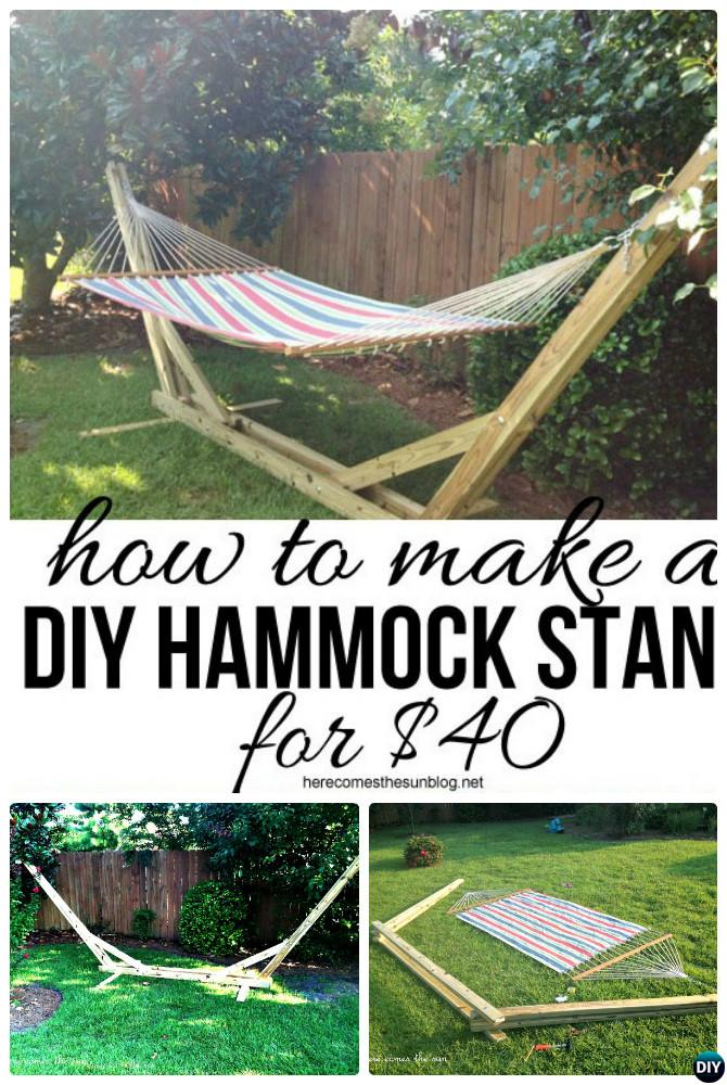 DIY Wood Hammock Stand-10 DIY Hammock Projects Instructions