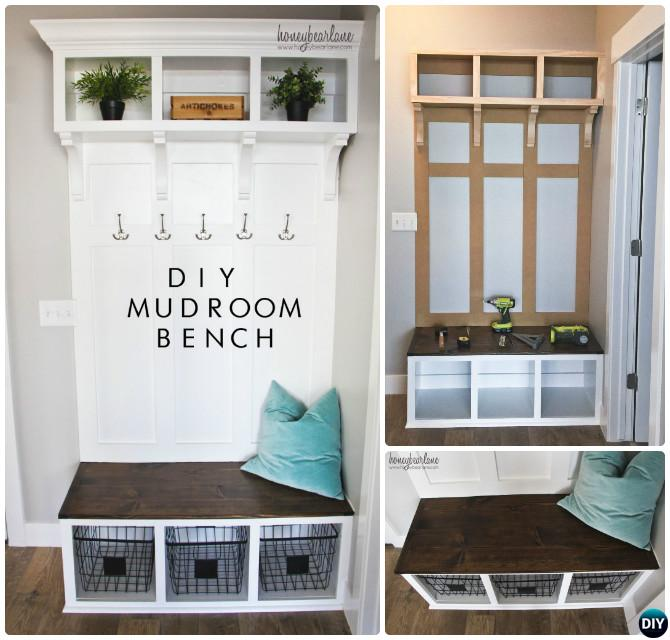 Diy Wood Mudroom Bench Instructions 20 Best Entryway Ideas Projects