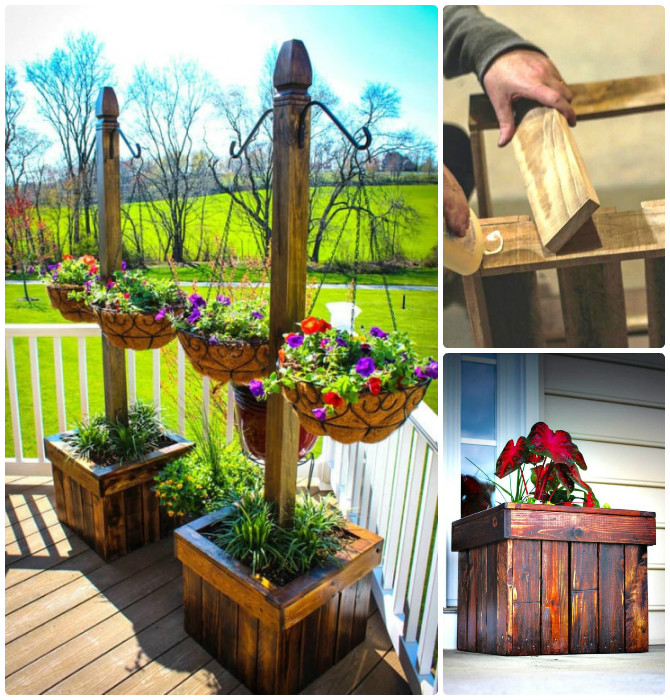 DIY Wood Pallet Hanging Planter Box-20 DIY Porch Decorating Ideas Projects