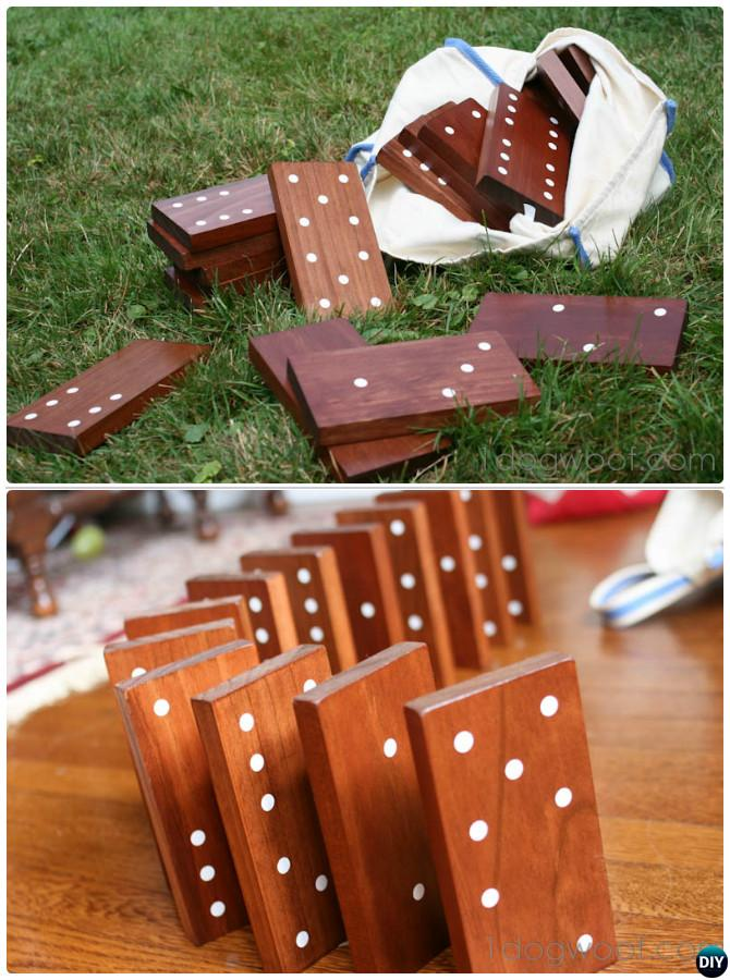 DIY Yard Dominoes-20 DIY Summer Outdoor Games For Kids Adults