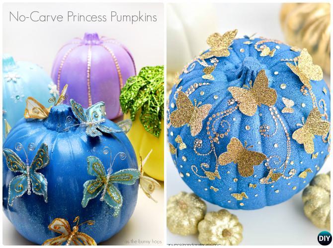 DIY Butterfly Pumpkin Instructions-16 No Carve Pumpkin DIY Ideas