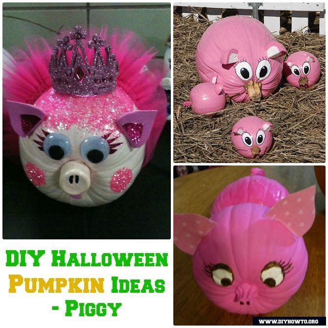 diy princess pig pumpkin instructions 16 no carve halloween pumpkin diy ideas