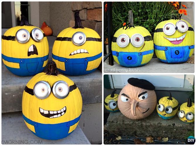 DIY Minion Pumpkin Instructions - 16 No Carve Pumpkin DIY Ideas