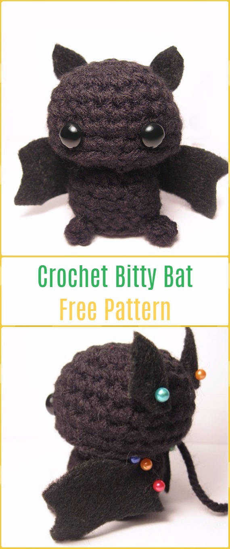 Amigurumi Crochet Bitty Bat Free Pattern-Amigurumi Crochet Bat Free Patterns