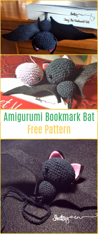 Crochet Amigurumi Bookmark Bat Free Pattern - Amigurumi Crochet Bat Free Patterns
