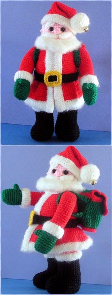 Crochet Santa Claus Doll Free Pattern - migurumi Crochet Christmas Softies Toys Free Patterns