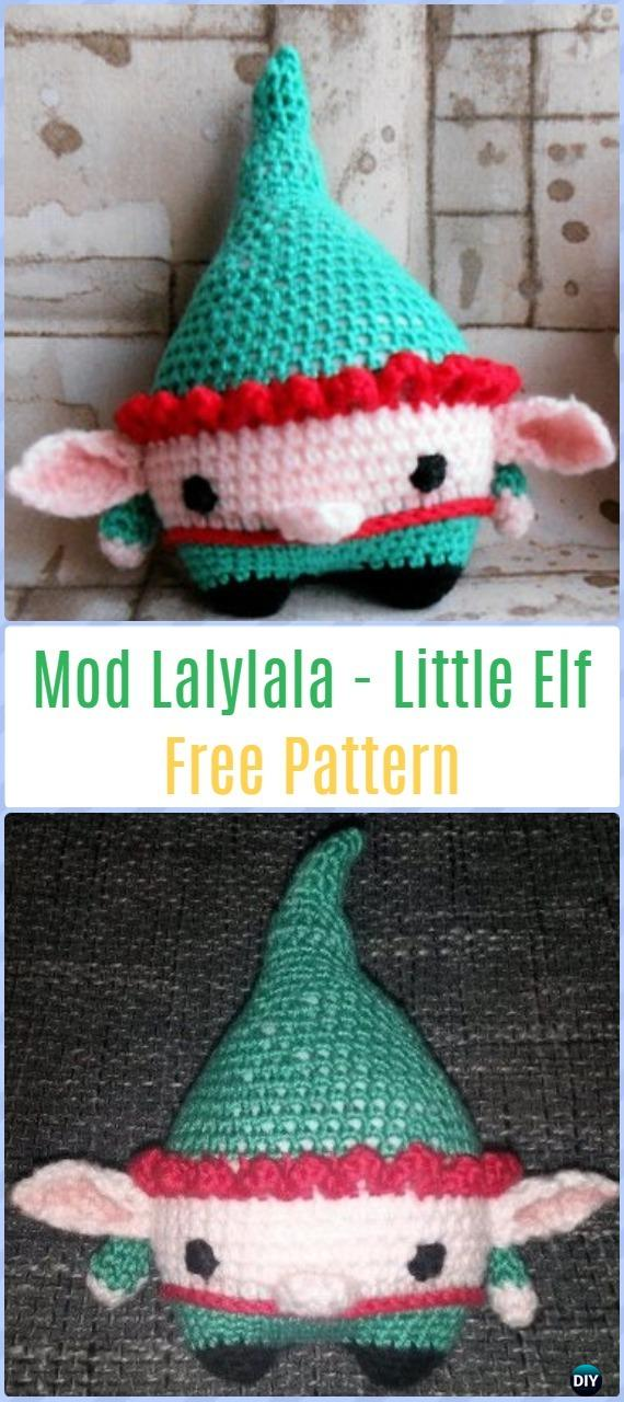 Crochet Mod Lalylala - Little Elf Free Pattern - Amigurumi Crochet Christmas Softies Toys Free Patterns