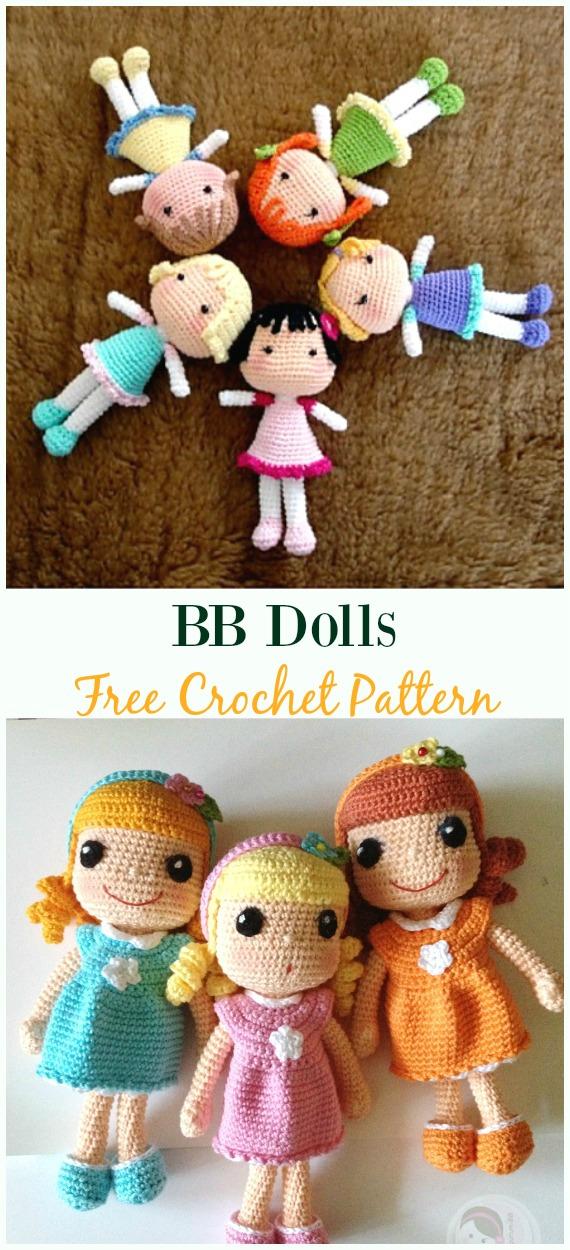 Crochet BB DollsAmigurumiFree Pattern - #Crochet, #Doll Toys Free Patterns