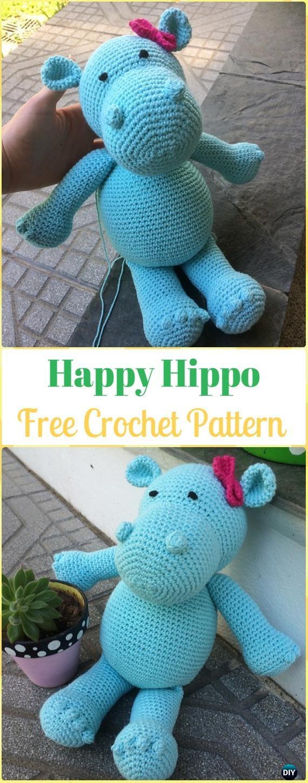 Amigurumi Soft Hippo Free Pattern | 1450x570